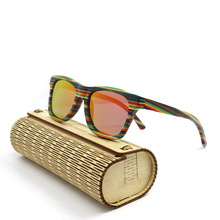 Custom logo fashion wooden sunglasses dropshipping wholesale in china