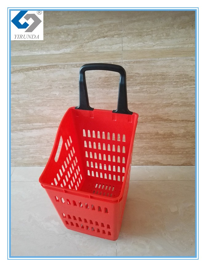 210L supermarket shopping hand push trolley