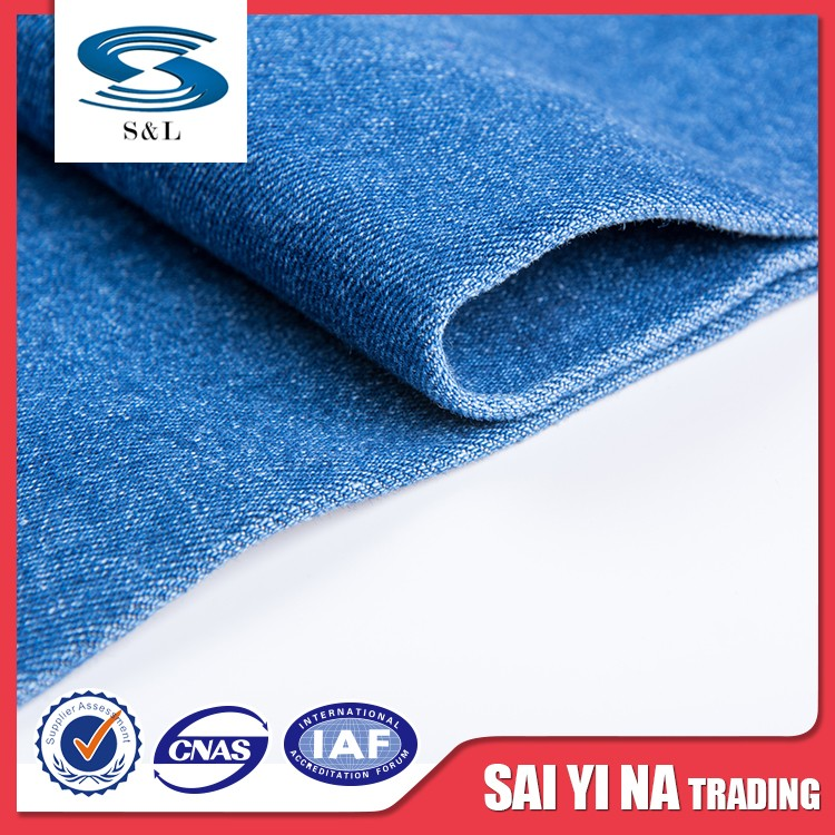 Good stretch printed cotton polyester spandex blended fabric factory