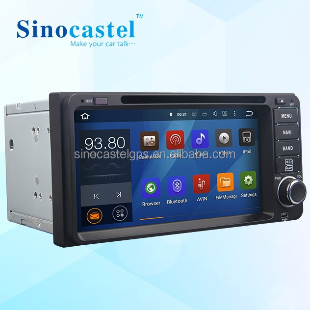 Android A/V System Car DVD GPS Navigation For Toyota Universal Cars With 6.95 Inch 200*100 mm Dashboard
