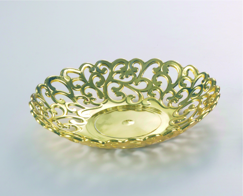 Golden,India weeding,hollow plastic plate