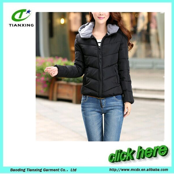 Short winter bomber warm jacket for women