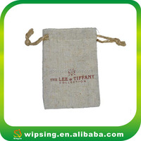 Promotional Drawstring Linen Flax Bag Pouch