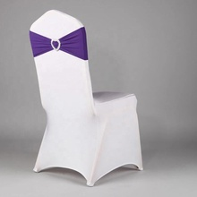 Hot selling colorful elastic stretch spandex chair sashes for wedding chair