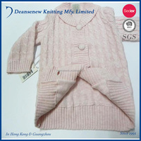 100% cotton Baby Knitted Cardigan Sweater