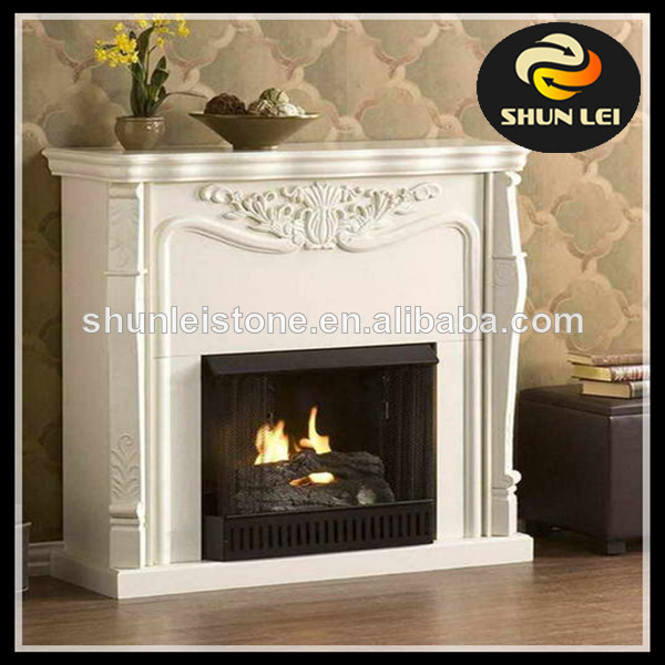 wood burning cast iron fireplaces with artificial stone mantel