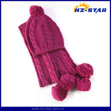 HZM-13547 Korean fashion winter good girls lovely set scarf and hat