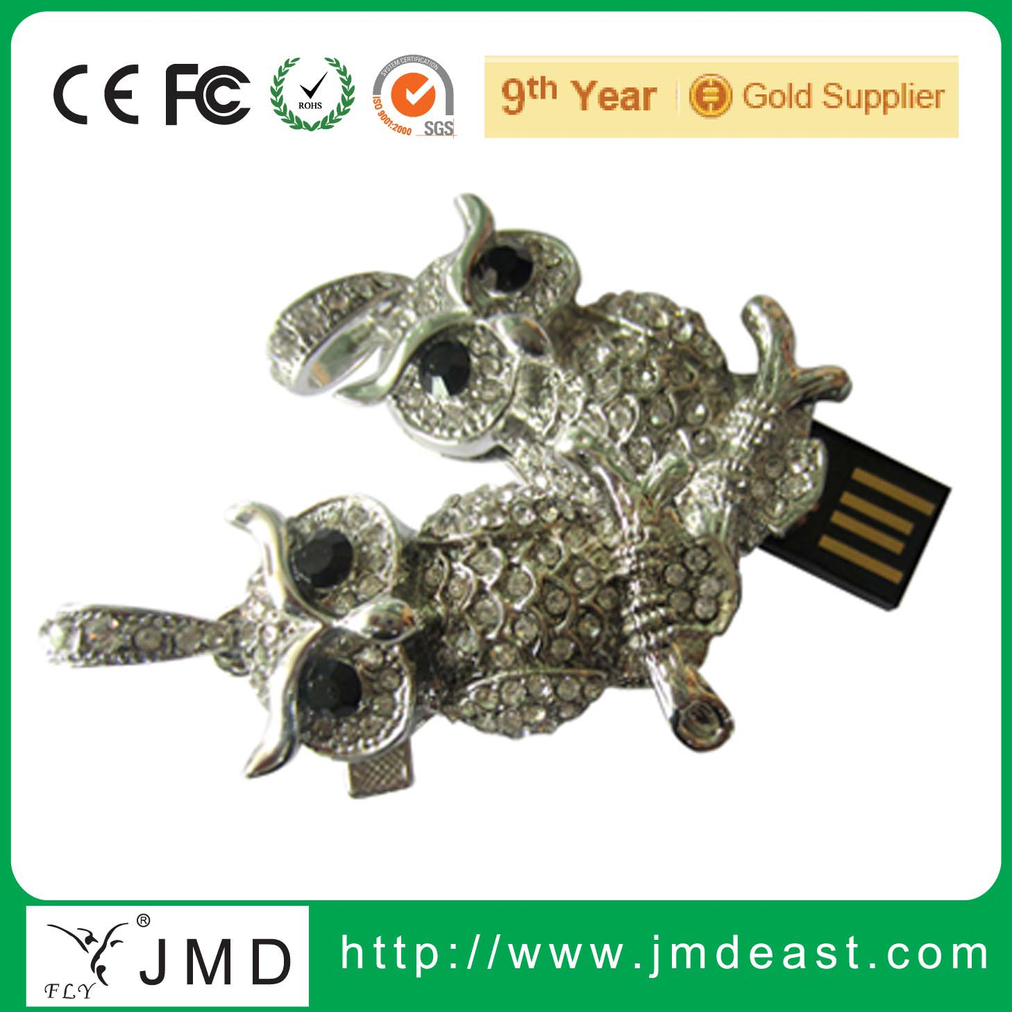 Factory price Owl shape jewelry USB flash drive