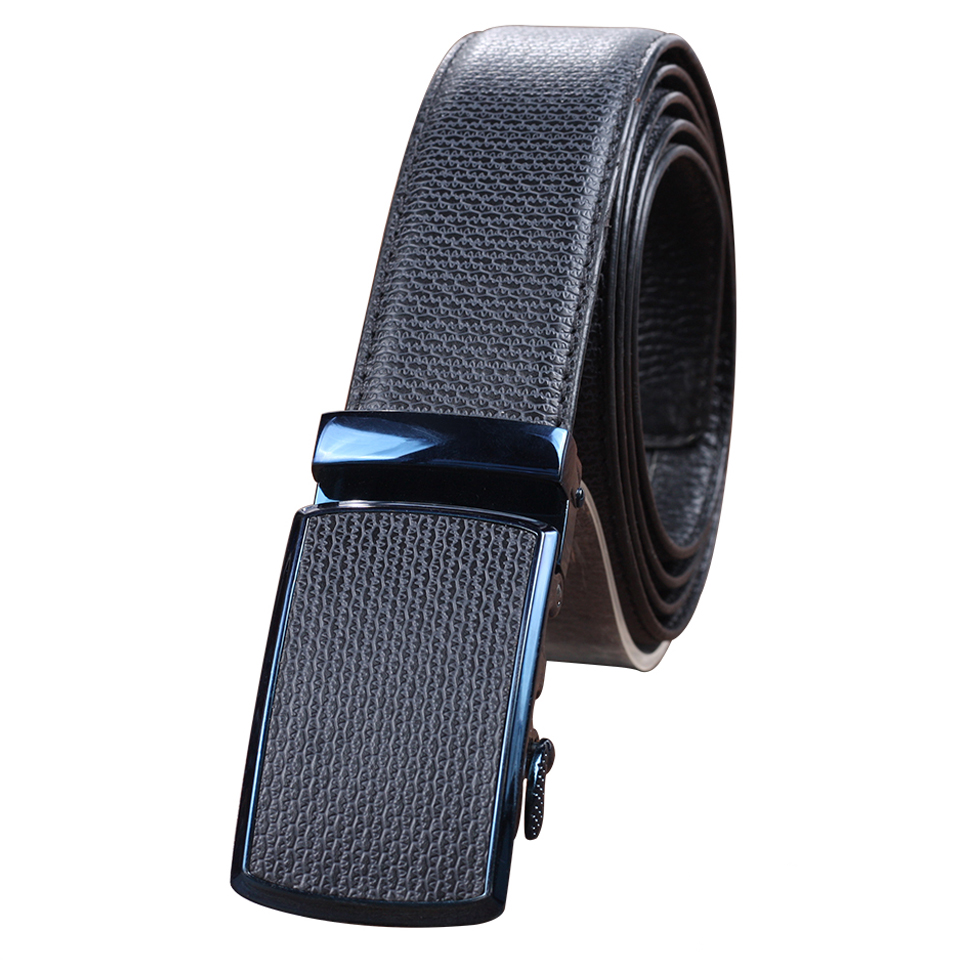 Texture Men's Fashion Ratchet Dress Belt with Leather Wrapped Automatic Buckle