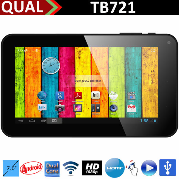 Hot super hd 2160p tablet pc!!7 inch Allwinner A20 Dual Core with HDMI usb port Android 4.4 KitKat Q
