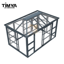 customized free standing portable sunroom/prefabricated conservatory with polycarbonate sheet