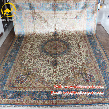 Henan Bosi 10'x14' Home decoration antique persian handmade 100% silk rug made in China iranian silk rug