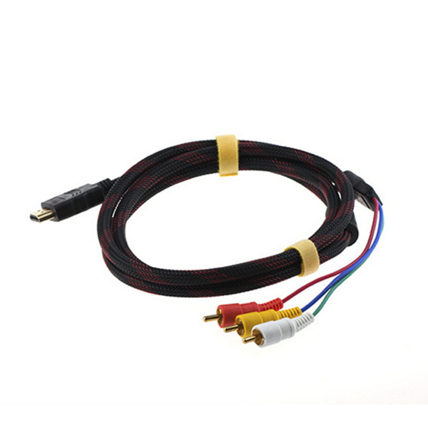 Full HD 1080P gold plated hdmi to 3 rca cable/