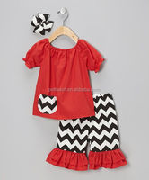 4th of July little girl boutique clothing set girls summer boutique outfits chevron western girls outfit