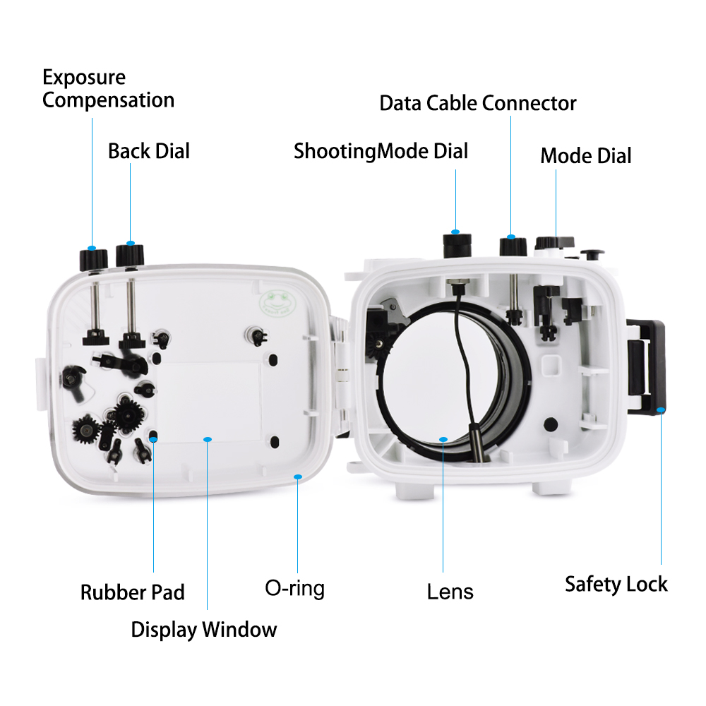 high quality 130ft/40m Waterproof Underwater Camera Diving housing case for Sony  camera a7 28-70mm lens camera