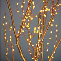 decorative led copper wire string lights / battery operated led plant indoor light