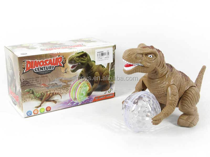 Lighting and Walking Dinosaur with Ball Electronic Dinosaur Toy Toys with Music and Light