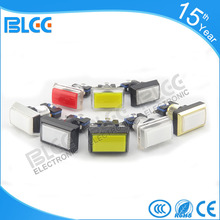 Guangzhou wholesale 100 amp rectangular colorful low voltage illuminated push button reset switch