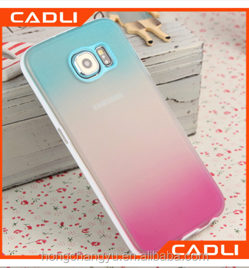 Wholesale Cell Phone Case PC TPU Cell Phone Case for Samsung Galaxy S6 Color Changing Phone Back Cover