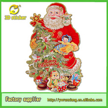 3D Glitter Paper Handmade Animated Santa Claus Christmas Decoration