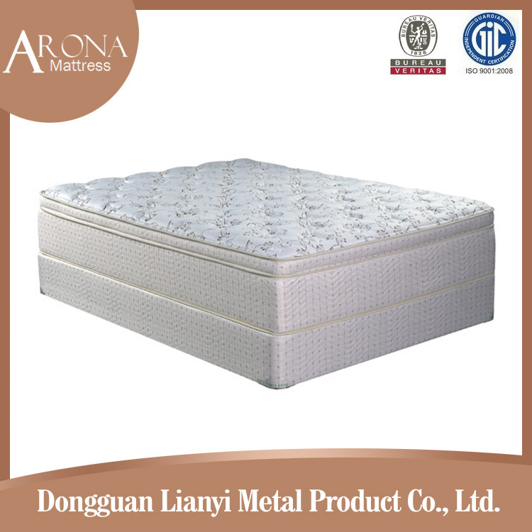 fashionable top design luxury euro top single sleeping bed mattress price