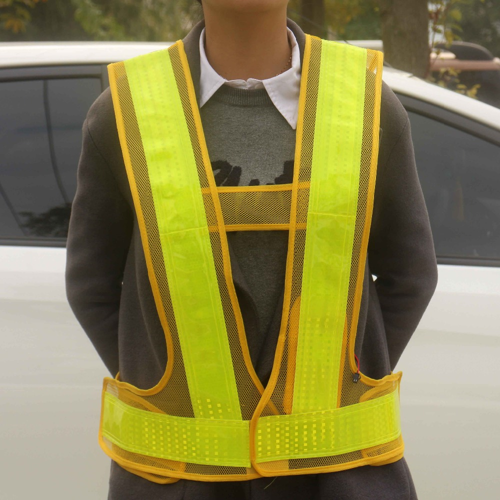 Promotional Custom Orange Hi Vis Vest With Pockets