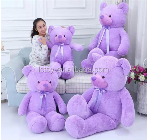 custom soft toy purple big teddy bear 200cm