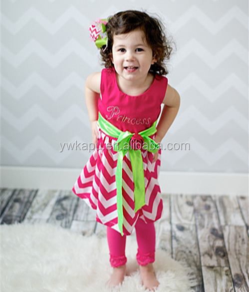 On sales! only $2.45! wholesale high quality baby girls cotton frocks original designs chevron dress