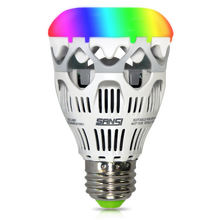 10w high quality e26 e27 coloful led bulb lamp working with cellphone