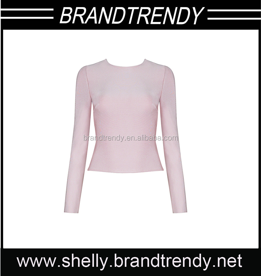 High quality long sleeve women bandage crop tops manufacturers