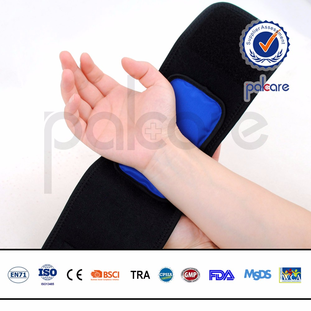 Personal care pain relief fabric hot cold liquid gel wrap
