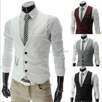 Z53128B men's vests & waistcoats for outdoor men formal suit vest coat