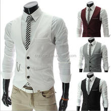 Z53128B men's vests & waistcoats for outdoor men formal suit vest coat