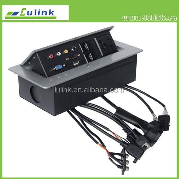pull up data socket pop up electrical media socket panel