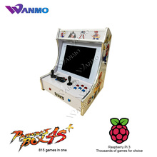 China supplier 2 player mario arcade game machine, bartop arcade cabinet with Raspberry Pi 3 for sale