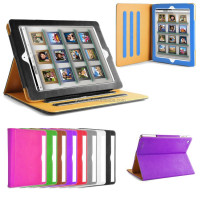 Leather Stand Folio Case Cover For Ipad 2 3 4