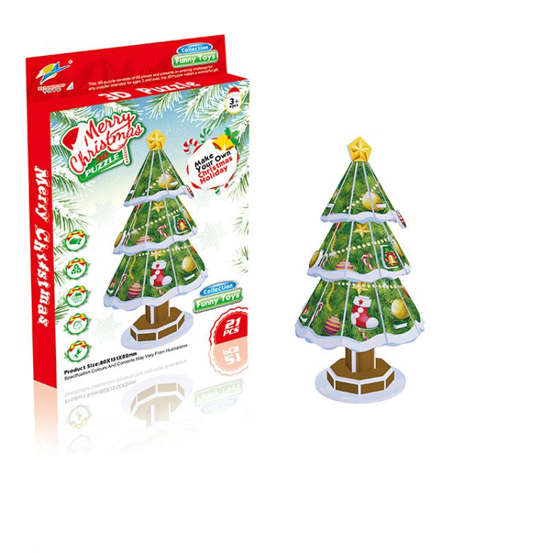 3D puzzle DIY toys for Christmas tree game gift for <strong>kids</strong>