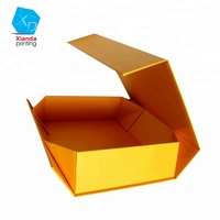 Foldable rigid collapsible paper box with magnetic closure for gift/clothes packaging