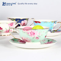 Alibaba best seller new product coffee cups tea cup sets wholesale bulk tea cup and saucer cheap