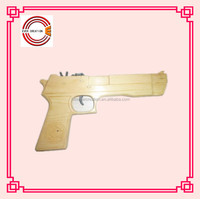 newest fashion Wooden Carving toy gun with leopard on the apperance