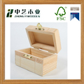 Wholesales handmade rectangular unfinished pine mini wooden keepsake chest