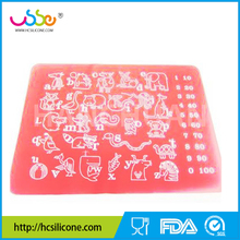 bpa free baby & <strong>kids</strong> dining table silicone placemats with learing alphabet animals