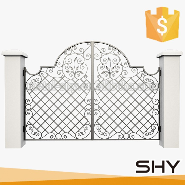 Used wrought iron door fencing gates / wrought iron gate