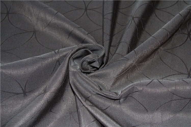 Circles jacquard blackout heavy upholstery curtain fabric