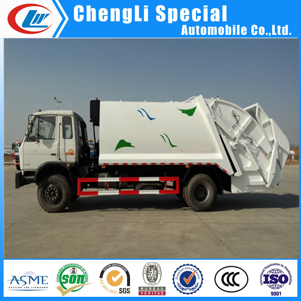 12cbm urban garbage compactor truck 12000L waste compressed truck 5ton rubbish truck