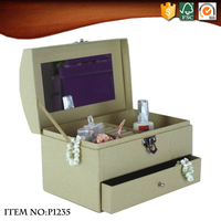 Custom Kraft Paper Jewellery Box with Mirror