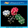 deluxe poker chips sets with different values and colors