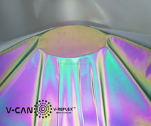 colorful reflective stretch fabric, iridescent color reflective spandex fabric, RF-HW658855-X1