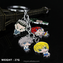 Hunter X Hunter Figure Keychain Anime Key Chain Hunterxhunter Keyring Jewelry Gon Killua Zoldyck Kurapika Hisoka Leorio
