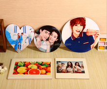 Heart Shaped Photo Printing White Sublimation Blank Ceramic Tiles Ornament